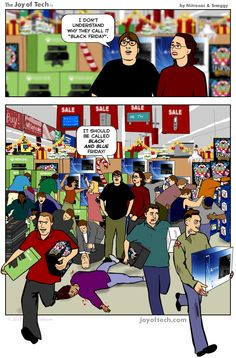 Black Friday Fracas - http://dashburst.com/humor/black-friday-fracas/