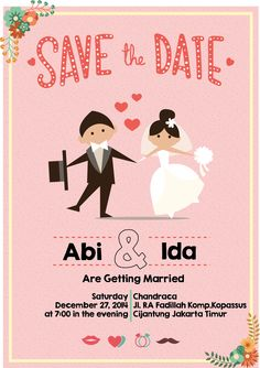 wedding invitation pink