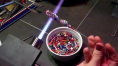 Lampwork Scrap Glass Pendants by Jeannie Cox
