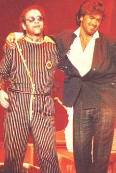 with George Michael approx 1985