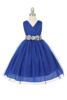 Girls Dress Style 1220 - ROYAL BLUE Dress with 14 Sash Options  A truly amazing and timeless dress that everyone will love. This sleeveless style dress is perfect for an upcoming wedding or special event. Take note of the intricate pleating throughout the bodice. The dress is youthful enough for younger children but sophisticated enough for junior bridesmaids.  http://www.flowergirldressforless.com/mm5/merchant.mvc?Screen=PROD&Product_Code=CC_1220RBSV&Store_Code=Flower-Girl&Categor..