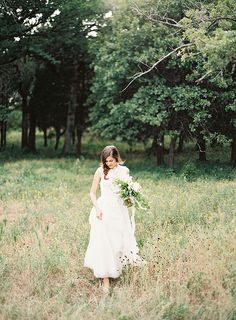 organic + fresh bridal portrait