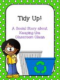 FREE! Social Story: Keeping the Classroom Clean