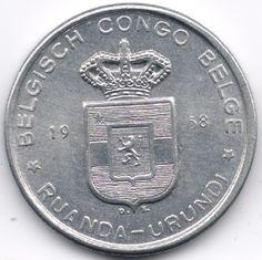 Belgian Congo + Ruandi Urundi 5 Francs 1958 op eBid België