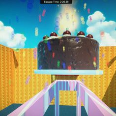 Trapped by cake on Huber's Funhouse Level