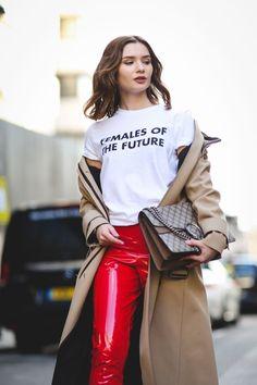 street stílus találkozik nő