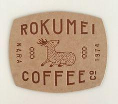 rokumei coffee co. Cafe Branding, Cafe Logo, Logo Sign, Typography Logo, Logos, Japanese Coffee Shop, Coffee Fonts, Be Design, Coffee Shop Logo