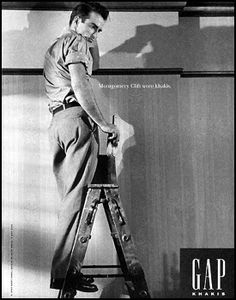 Gap ad featuring Monty Clift by lisbon antigua, via Flickr