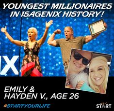 We are absolutely thrilled to announce that Emily and Hayden V. are the youngest millionaires in Isagenix history! Please join us in giving them a huge congratulations! Read their story here!