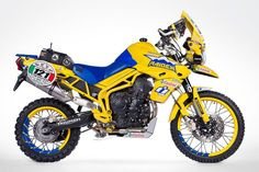 A sense of humor is not something you normally associate with hardcore desert racing. But this Triumph Tiger 800 XC is sporting Icon colors, so we're guaranteed a twist on the usual. The bike is nicknamed 'Mantecore.' If you're a fan of popular culture you'll… Read more »