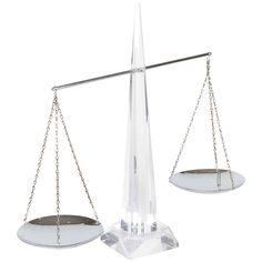 Vintage Lucite Balance Scale   1stdibs.com