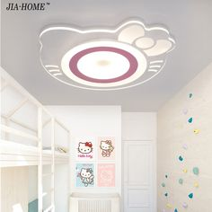 89.42$  Buy now -  Led Ceiling Lights remote control  Ultrathin hellokitty Acrylic Ceiling Lamp  for for children bedroom lamparas de techo abajur  #aliexpressideas