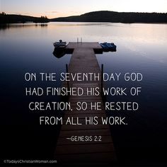 Genesis 2:2: A pattern for rest