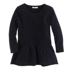 J.Crew+-+Girls'+peplum+sweater school uniform