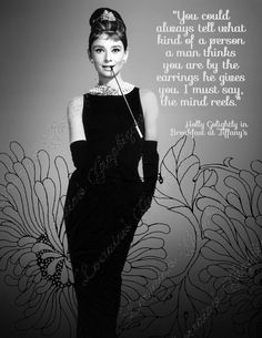 Audrey Hepburn Breakfast at Tiffany Quote Fine by ChezLorraines, $12.00