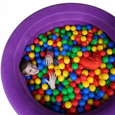 Air-Lite Inflatable Ball Pit for Tactile Input | Sensory Integration Ball Pit | Tactile Defensive | Motor Planning Skill Development | Fun and Function