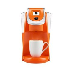 Keurig . K200 Coffee Maker Brewing System, Orange (155 CAD) ❤ liked on Polyvore featuring home, kitchen & dining, small appliances, orange, coffee maker, coffee & espresso makers, keurig coffee machine, single serve coffeemakers and coffee brewer