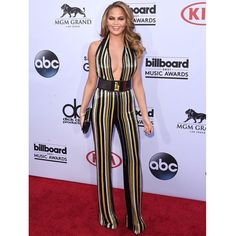#ChrissyTeigen wears #Balmain Spring/Summer 2015 jumpsuit to the #BBMAs red carpet in Las Vegas #BalmainArmy