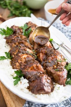 Maple Balsamic Pork Tenderloin by Sonia! The Healthy Foodie | Recipe on thehealthyfoodie.com