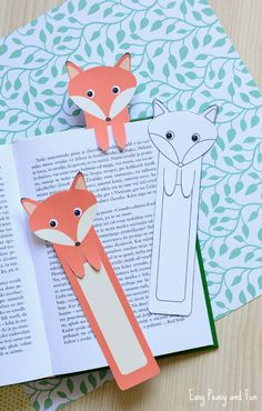 Printable Fox Bookmarks - DIY Bookmarks - Easy Peasy and Fun More on good ideas and DIY