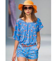 La combi short, défilé printemps été 2014 Agnes b - Cosmopolitan.fr