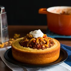 Cornbread Chili Bowl