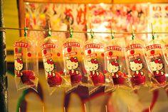 http://flic.kr/p/8w3oBF Hello Kitty Apples dipped in Caramel 筑後川花火大会