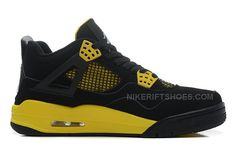 "1d1eab6790ee0c Air Jordan 4 Retro ""Thunder"" Black White-Tour Yellow. Michael Jordan  ShoesCheap ..."