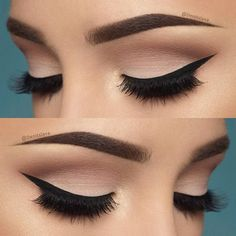 10 Hottest Eye Makeup Looks – Makeup Trends: #3. Natural Smokey Eye with Thick Eyeliner