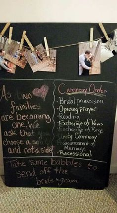 Ceremony welcome board/ program replacement
