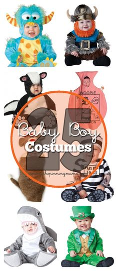 Twenty Five cute and unique Halloween costume ideas for baby boys! From newborn to toddler we have the found the cutest costume ideas around! This post contains affiliate links. For more i...