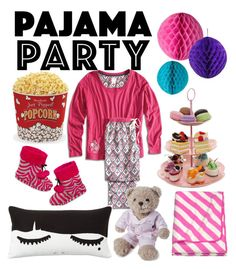 """pajama's party #pajamaparty"" by ndien-bgt on Polyvore featuring PJ Couture, Lucky Brand, PBteen, West Bend and Lexington"