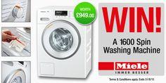#Miele 1600 Spin Washing Machine competition - Winner: pontelad