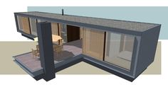 Panorama Prefab bungalow with guesthouse by Dingemans Architectuur.