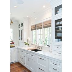 Meeting a new client tomorrow & their plans have windows like this over their sink. Using this gorgeous kitchen by Kitchen Lab Design as my inspiration!  by krystine_edwards
