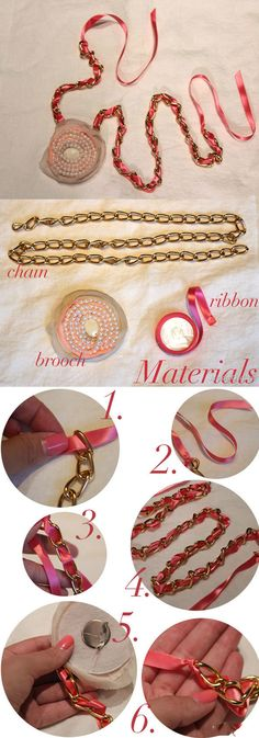 DIY Ribbon Broach diy crafts craft ideas easy crafts diy ideas crafty easy diy diy jewelry craft necklace diy necklace jewelry diy craft broach
