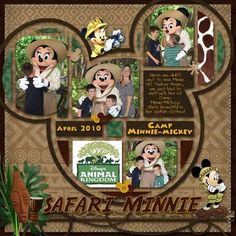 Animal Kingdom scrapbook page , photos | Animal Kingdom Scrapbook Layouts | %blog_title