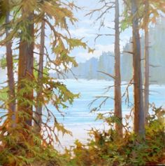 Amanda Jones - Blue Beyond Coastal Paint, Amanda Jones, Forest Illustration, Landscape Paintings, Landscapes, Colorful Paintings, Paint Cans, Community Art, Impressionism