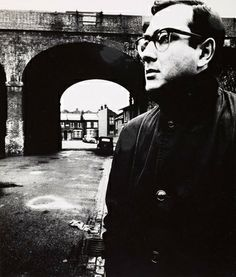 Portrait of English playwright, screenwriter, director and actor Harold Pinter, Battersea, London, England, United Kingdom, 1961, photograph by Bill Brandt.