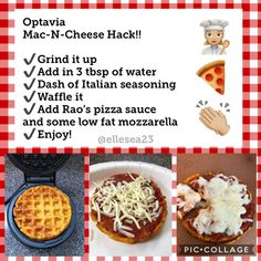 Optavia Mac n cheese hack! Make this little pizza and enjoy it, you get to eat it all by yourself! #optavia #hacks #fueling #pizza
