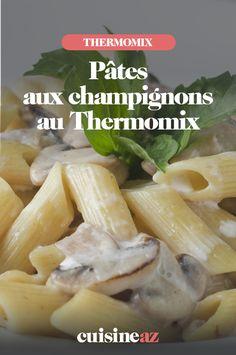 Une recette facile et rapide de pâtes sauce forestière à cuisiner dans votre robot : le Thermomix.  #recette#cuisine#pates#champignon #champignons #robotculinaire  #thermomix #sauceforestiere