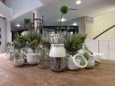 decoratief met glazen potten