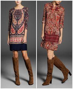 Tonos neutros y cortes clásicos en los vestidos de Massimo Dutti, colección otoño invierno 2013/2014