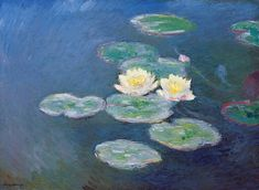 Wieco Art Water Lilies Canvas Prints Wall Art of Claude Monet Famous Floral Oil Paintings Reproduction Stretched and Framed Classic Flower Pictures Giclee Artwork for Bedroom Home Office Decorations Claude Monet, Oil On Canvas, Canvas Art, Monet Water Lilies, Bedroom Artwork, Monet Paintings, Oil Painting Reproductions, Artist Canvas, Art Images
