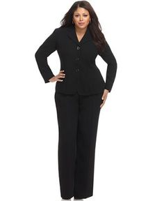 plus size work suits
