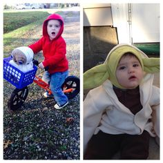Child E.T. and Yoda costumes (aesh327's photo on Instagram)