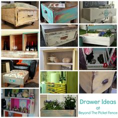 Projects galore with drawers - repurposed items Furniture Projects, Furniture Makeover, Home Projects, Diy Furniture, Furniture Logo, Office Furniture, Old Drawers, Dresser Drawers, Diy Dressers