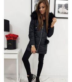 Dámska zimná bunda Millo prešívaná s kapucňou čierna Bomber Jacket, Winter Jackets, Fashion, Winter Coats, Moda, Winter Vest Outfits, Fashion Styles, Fashion Illustrations, Bomber Jackets