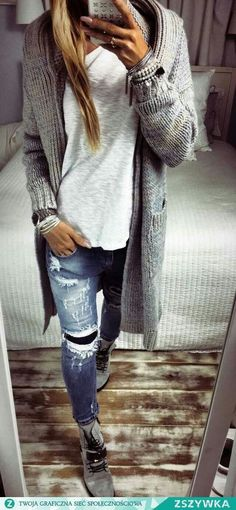 cozy up in knits and denim for fall