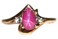 10k Gold Star Ruby & White Topaz Ring – Yourgreatfinds
